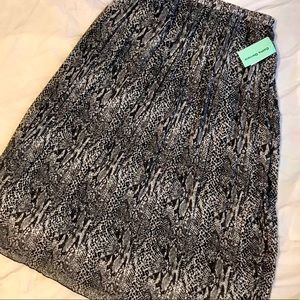 ⭐️New with Tags - Cathy Daniels B&W Skirt